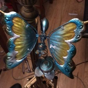 Wind chime with butterfly 47 inches X10 inches